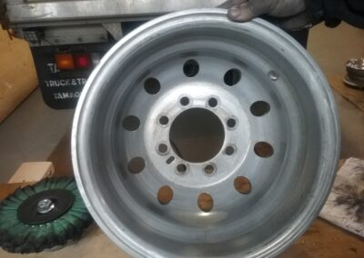 Cleaned and ready for Truck Rim Polishing