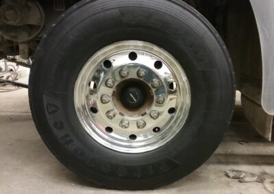 Truck Tire & Rim After Polishing